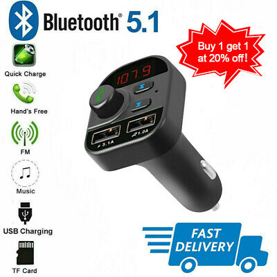 HOT Bluetooth In-Car Wireless FM Transmitter MP3 Radio Adapter Car 2USB Charger