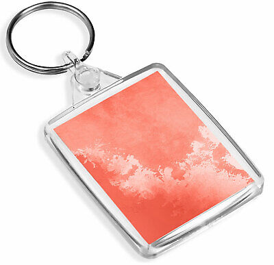 Pink & Red Paint Art Keyring - IP02 - Clouds Watercolour Artist Cool Gift #2041