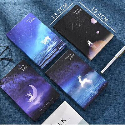 Starry Sky 1pc Journals Diary Hard Cover Paper Planner Notebook Illustrated Page
