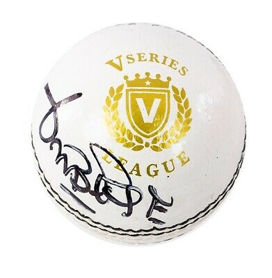 Curtly Ambrose Signed Cricket Ball - White Autograph