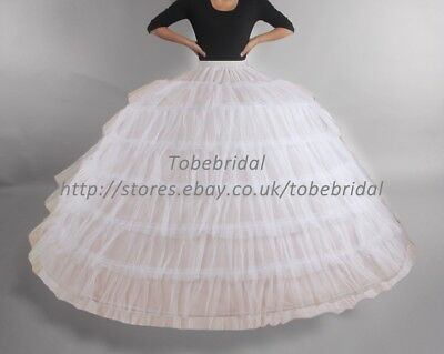 7 Hoops Super Crinoline Wedding Petticoat Slip Underskirt kinder Bridal Skirt