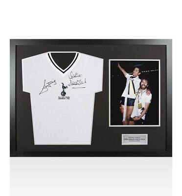 Framed Ossie Ardiles & Ricky Villa Signed Spurs Shirt FA Cup Final 1981 - Panora
