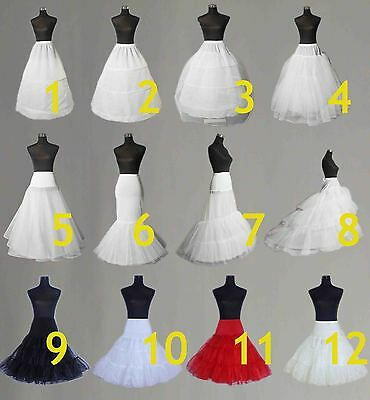 Wedding Petticoat Bridal Hoop Hoopless Crinoline Prom Underskirt Fancy Skirt s l
