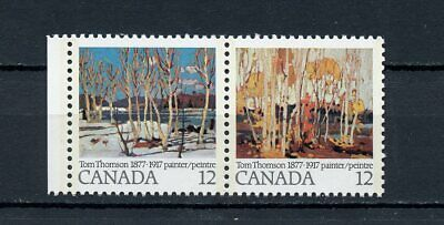 Canada MNH #733-34i Variety Thomson Painting Dot Above R 1977 A189