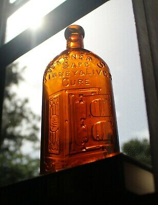 Warners Safe Kidney &Liver Cure Bottle   Beautiful Example!