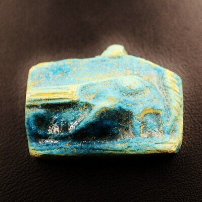 Rare Antique Egyptian Faience Eye of Horus Amulet Figurine