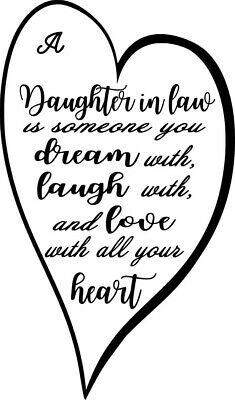 Daughter in law Wine Bottle Decal / Sticker (bottle not included)