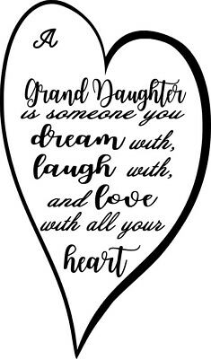 Grand Daughter Wine Bottle Decal / Sticker (bottle not included)