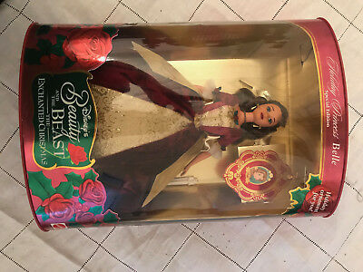 Disney Beauty and the Beast Entchanted Christmas Holiday Princess Doll
