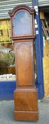 Good Antique Longcase Grandfather Clock Case To Fit 17ins By 12ins Dial