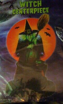 "RETRO ""1985"" Packaged WITCH CENTERPIECE Halloween Decoration  COMBINED SHIPPING"