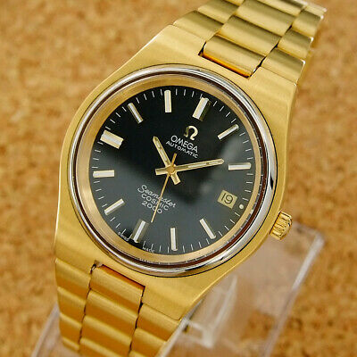 Authentic Omega Seamaster Cosmic 2000 Date Black Dial Automatic Mens Wrist Watch