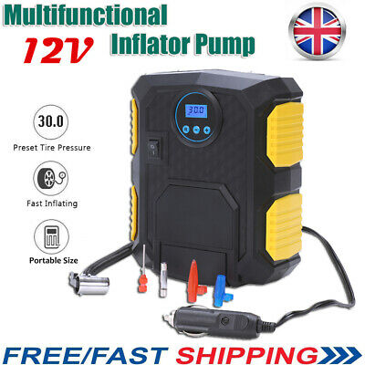 12V LED Electric Car Tyre Inflator Pump Digital Portable Air Compressor Pump
