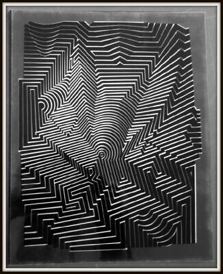 "Vasarely Victor - ""Structures binaires permutables"",  Collage"