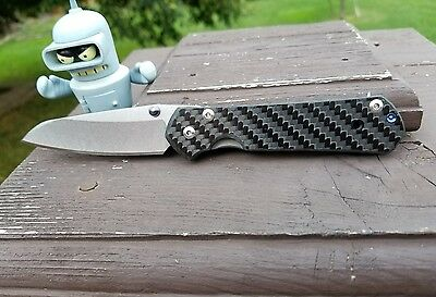CHRIS REEVES SMALL Sebenza 2x2 Twill Carbon Fiber Scale