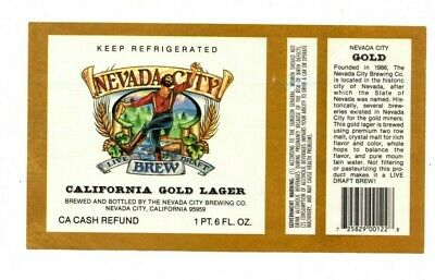 USA - Beer Label - Nevada City Brewing Co. - California Gold Lager