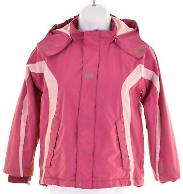HELLY HANSEN Girls Windbreaker Jacket 8-9 Years Pink Polyamide  GE05