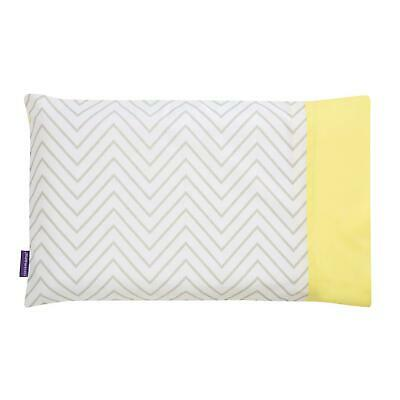 Clevamama Clevafoam Pram Pillow Case, 100% Cotton - Grey, 31 X 22 Cm
