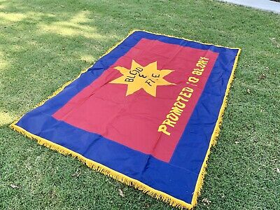 "5' x 7' 6"" Salvation Army BLOOD & FIRE Memorial Flag ~ PROMOTED TO GLORY Banner"