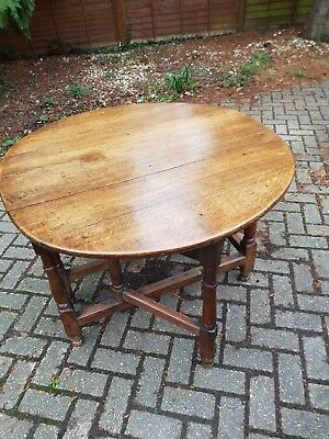 Antique Early 18th Century English Oak Georgian George II Gate leg Table c1720