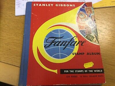Vintage Stanley Gibbons Stamps Album For Stamps Of The World - Over 400 Stamps
