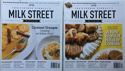 Lot of 2 CHRISTOPHER KIMBALL'S MILK STREET Magazine CHARTER ISSUE + Nov. 2017