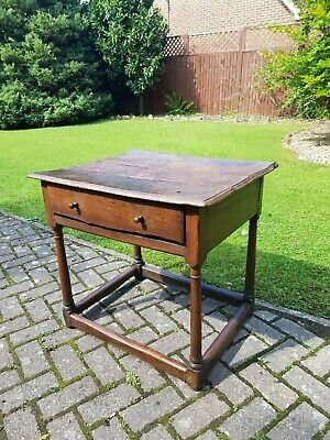 17th / Early 18th Century Provincial Early English Oak Side Table