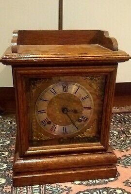 A Nice Antique Oak Cased Mantel Clock