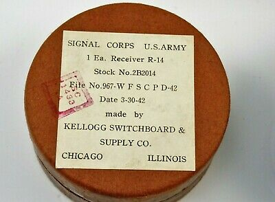 WWII ARMY SIGNAL CORPS TYPE R-14  RECEIVER / 1942 NEW In Box  Rare NEW Old Stock