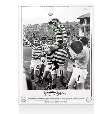 Billy McNeill Signed Celtic Photo - 1965 Scottish Cup Winners Autograph