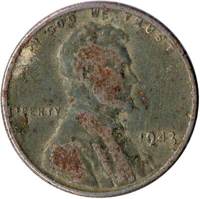 Usa / 1943 Steel Wheat Penny / War Penny / Lincoln / Collectible  #Wt4403