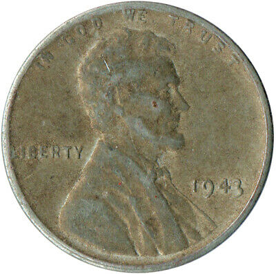 Usa / 1943 Steel Wheat Penny / War Penny / Lincoln / Collectible  #Wt4413