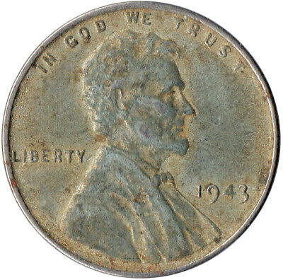 Usa / 1943 Steel Wheat Penny / War Penny / Lincoln / Collectible  #Wt4415