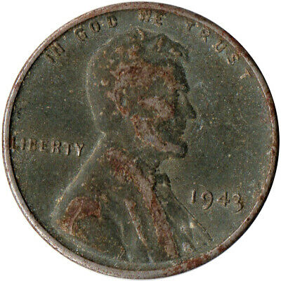 Usa / 1943 Steel Wheat Penny / War Penny / Lincoln / Collectible  #Wt4416