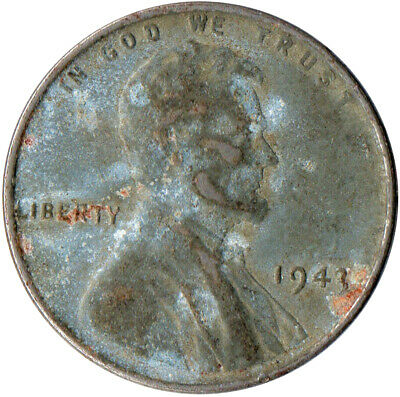 Usa / 1943 Steel Wheat Penny / War Penny / Lincoln / Collectible  #Wt4417