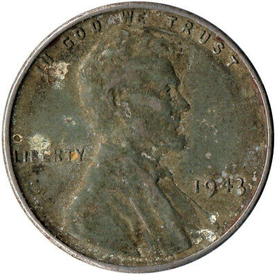 Usa / 1943 Steel Wheat Penny / War Penny / Lincoln / Collectible  #Wt4420