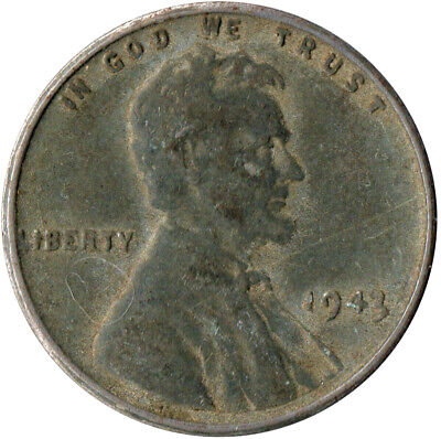 Usa / 1943 Steel Wheat Penny / War Penny / Lincoln / Collectible  #Wt4421
