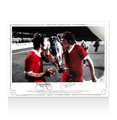 Jimmy Case & Phil Neal Signed Liverpool Photo - 1977 European Cup Winners