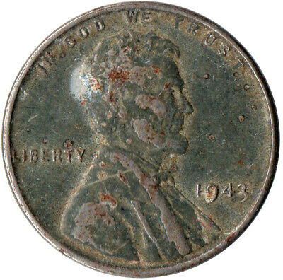 Usa / 1943 Steel Wheat Penny / War Penny / Lincoln / Collectible  #Wt4422