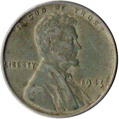 Usa / 1943 Steel Wheat Penny / War Penny / Lincoln / Collectible  #Wt4423