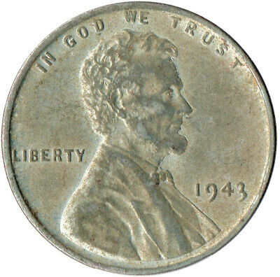 Usa / 1943 Steel Wheat Penny / War Penny / Lincoln / Collectible  #Wt4425
