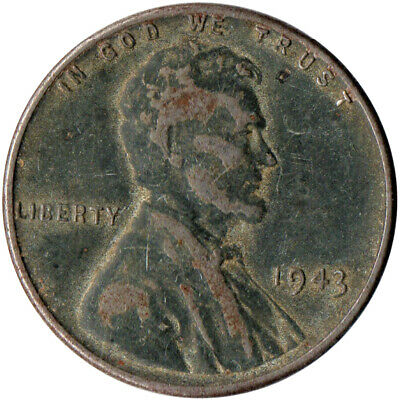 Usa / 1943 Steel Wheat Penny / War Penny / Lincoln / Collectible  #Wt4431