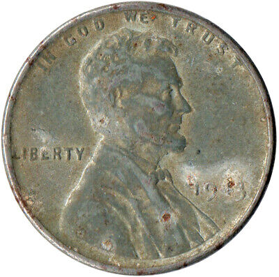 Usa / 1943 Steel Wheat Penny / War Penny / Lincoln / Collectible  #Wt4432