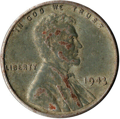 Usa / 1943 Steel Wheat Penny / War Penny / Lincoln / Collectible  #Wt4433