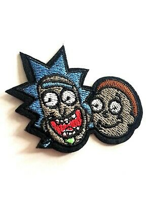 """Pickle Rick And Morty Embroidered iron on Sew on Patch 3.75""""x 1.5"""""""
