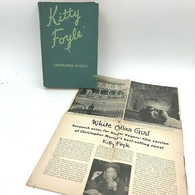 Kitty Foyle by Christopher Morley 1st Ed 1939 & 1940 Life Magazine Article BK4