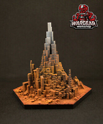 Warhammer 40K IMPERIAL HIVE CITY Display Model - 3D Printed and Hand Painted
