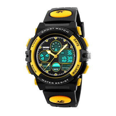Kids Boys Girls SKMEI Digital Alarm Waterproof Sports Analogue Children Watch GT