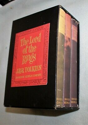 Lord of the Rings Boxed Set (in case) 1965 HB DJ  J R R Tolkien w/fold out maps
