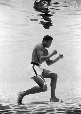 Muhammad Ali Bb1 Underwater Boxing Gym Poster Art Print - A4 A3 A2 A1 A0 Sizes